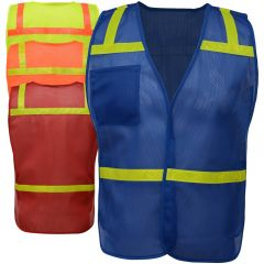 GSS Safety 3121-3124 Economy Non-ANSI Vest w Reflective Tape