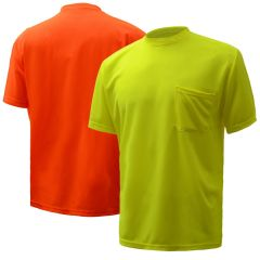 GSS Safety 5501/5502 Hi-Vis Pocketed Safety T-Shirt