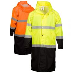 ML Kishigo RWJ108 Brilliant Series ANSI Class 3 Long Rain Coat