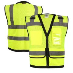 ML Kishigo S5008 Economy Class 2 Ultra-Cool Surveyors Snap Vest