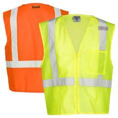 ML Kishigo 1089/1090 Class 2 Ultra-Cool 1-Pocket Mesh Safety Vest