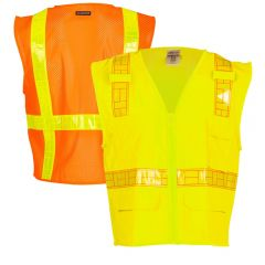 ML Kishigo 1207A-1208A Class 2 Ultra-Cool Surveyors Safety Vest