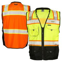 ML Kishigo S5002/S5003 Black Series Class 2 Surveyors Safety Vest