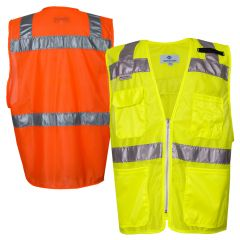 National Safety Apparel 8149/8150 ANSI Class 2 Mesh Hi Vis Road Vest