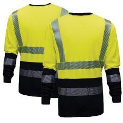 National Safety Apparel Hybrid FR C54HYLSHC3 Long Sleeve T-Shirt