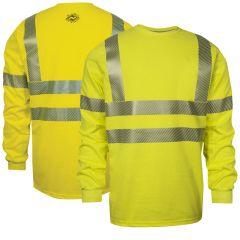 National Safety Apparel C54HYLSC3 Class 3 FR Long Sleeve T-Shirt