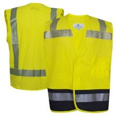 National Safety Apparel V00HAH2V Class 2 FR Hybrid Mesh Vest