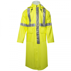 """National Safety Apparel R31R H2O CLass 3 49"""" Long FR Rain Trench Coat"""