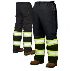 Work King S614 300-Denier Hi-Vis Thermal Safety Snow Pants