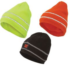 Tough Duck Acrylic Knit Beanies with Reflective Striping