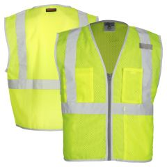 ML Kishigo 1507/1508 Brilliant Series Economy Class 2 Safety Vest - reflective display