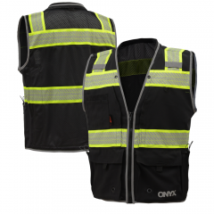 GSS Safety 1511/1513 Onyx Series Class 2 Surveyors Vest