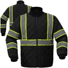 GSS Safety 8009 Contrast Series Enhanced Visibility Quilted Safety Jacket