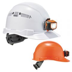 Ergodyne Skullerz 8970LED/8972LED Cap-Style Hard Hat + LED Light with Ratchet Suspension