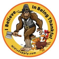 "HiVis Supply ""I Believe In Being Thankful"" Hard Hat Stick"
