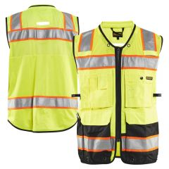 Blaklader 3132 Class 2 Contrast Black Bottom Surveyors Vest | Parent