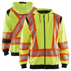 Blaklader 3448 Class 2 HiVis Contrast Hooded Full-Zip Sweatshirt | Parent