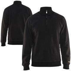 Blaklader 3655 Black Half Zip Sweatshirt