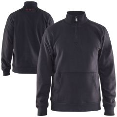 Blaklader 3655 Dark Grey Half Zip Sweatshirt