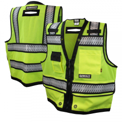 DeWalt DSV521 ANSI Class 2 Heavy-Duty Hi Vis Surveyor's Safety Vest