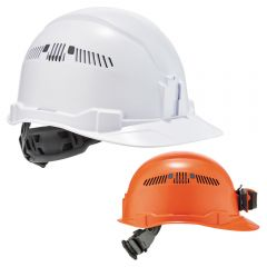 Ergodyne Skullerz 8972/8972LED Cap-Style Vented Hard Hat with 4-Point Ratchet Suspension