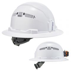 Ergodyne Skullerz 8973 Full Brim Vented Hard Hat with 4-Point Ratchet Suspension
