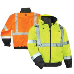 Ergodyne GloWear 8379 Class 3 Fleece Lined Bomber Jacket