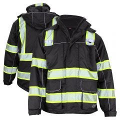 GSS Safety 8507 Onyx Series Enhanced Visibility Thermal 3-In-1  Ripstop Utility Safety Parka
