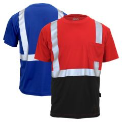 GSS Safety 5123/5124 Enhanced Visibility Short Sleeve Black Bottom Safety T-Shirt
