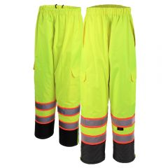 GSS Safety 6715 Contrast Series Class E Black Bottom Safety Rain Pant