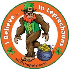 """HiVis Supply """"I Believe In Leprechauns"""" Hard Hat Sticker"""