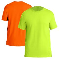 High Visibility Moisture Wicking 50/50 Blend Short Sleeve T-Shirt