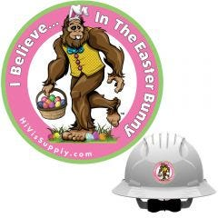 "HiVis Supply ""I Believe In The Easter Bunny"" Hard Hat Sticker"