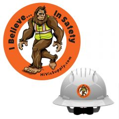 "HiVis Hank 991110 ""I Believe In Safety"" Hard Hat Sticker"