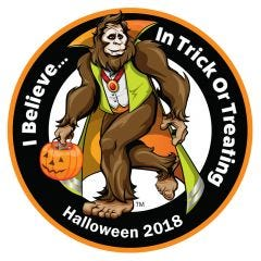 "HiVis Supply ""I Believe In Trick Or Treating"" Hard Hat Sticker"