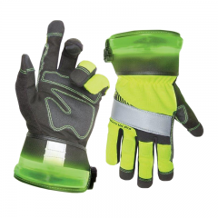SafetyViz Pro Work Gloves with LED Safety Lighting