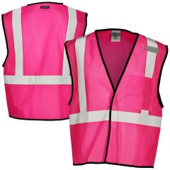 ML Kishigo B126 Economy Enhanced Visibility Mesh Safety Vest | pink