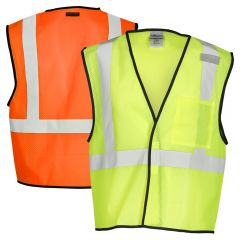 ML Kishigo 1193/1194 Class 2 Economy 1-Pocket Mesh Safety Vest