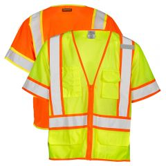 ML Kishigo 1242/1243 Ultra-Cool Class 3 Six Pocket Contrast Mesh Surveyors Vest