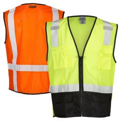 ML Kishigo 1509 Ultra Cool Black Bottom Safety Vest | Front