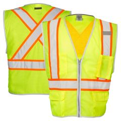 ML Kishigo 1530/1531 Brilliant Series Class 2 X Back Safety Vest