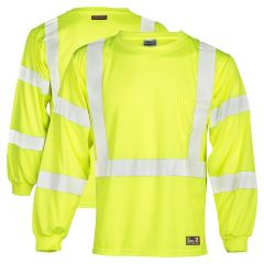 ML Kishigo F462 HiVis Class 3 FR Long Sleeve T-Shirt HRC-2
