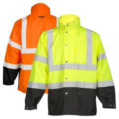 ML Kishigo RWJ102 Storm Cover ANSI Class 3 Rainwear Jacket