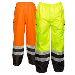 ML Kishigo RWP106 Black Series ANSI Class E Hi Vis Rain Pants