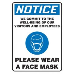 Covid-19 Safety Sign Notice Please Wear a Face Mask