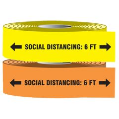 "Covid-19 Barricade Tape ""Social Distancing: 6ft"" 3"" x 1000-FT"