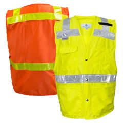National Safety Apparel 8043/8083 ANSI Class 2 Hi Vis Road Safety Vest