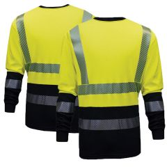 National Safety Apparel Hybrid FR C54HYLSHC3 Long Sleeve T-Shirt