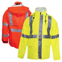 "National Safety Apparel R30R Class 3 ARC H2O FR 30"" Long Rain Jacket"