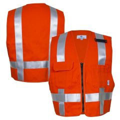 National Safety Apparel 99223 Arc-rated FR Cotton Utility Safety Vest | Front